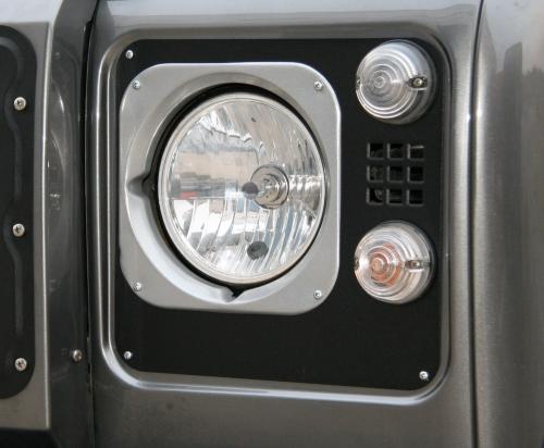 Defender heritage headlight plates
