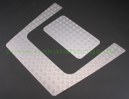 Chequer plate for bonnet for Defender Td4