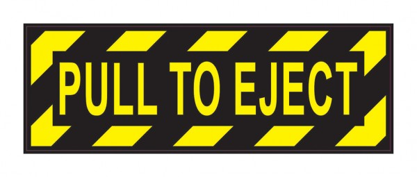 Sticker: PULL TO EJECT
