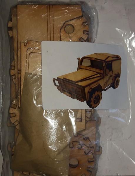 Holzmodell - Land Rover 90 (Hard Back)