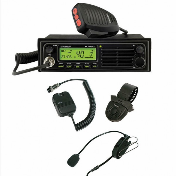 CB radio set with WP-24 hands-free speakerphone system