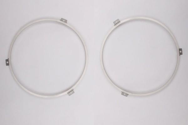 "Set of 2 mounting rings for 7 ""LED headlights on VW T3, Porsche etc."