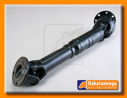Heavy Duty Prop Shaft - fron axle - with centred double joint and flange assembly, for Land Rover Defender