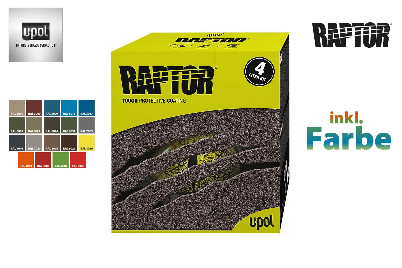 raptor vielzweckbeschichtung 4 liter kit inkl 200ml farbe g nstig bei nakatanenga kaufen. Black Bedroom Furniture Sets. Home Design Ideas