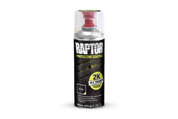 Raptor 2K aerosol protective coating, black or white
