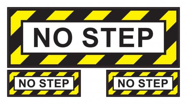 Aufkleber: NO STEP