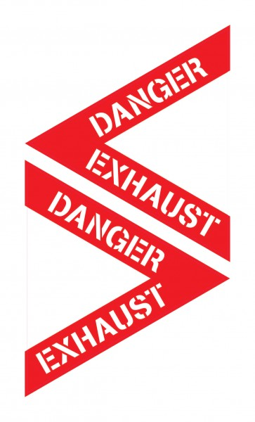 Sticker: DANGER EXHAUST