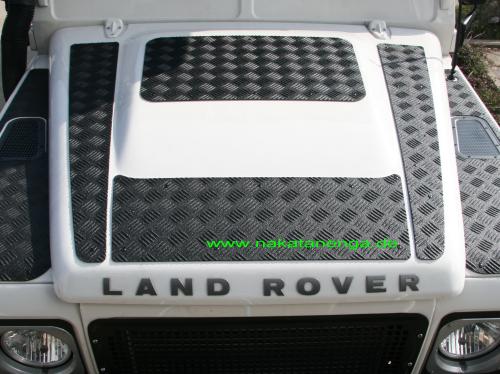 Riffelblech Motorhaube Defender TD4
