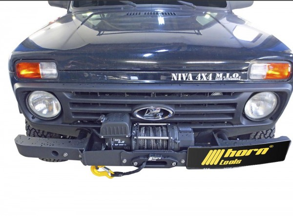 Cable winch set for Lada Niva / Taiga including complete installation set