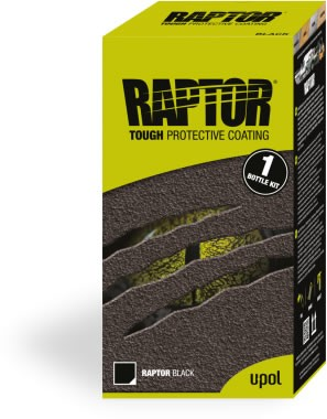 U-POL RAPTOR Beschichtung - 1 Bottle Kit, Beschichtung & Härter, schwarz
