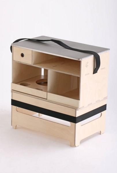 Mobile outdoor kitchen by Nakatanenga