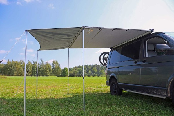 Evolution awning extension, arched shape