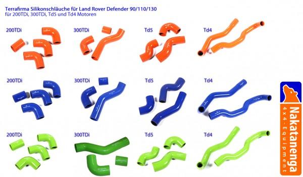Terrafirma Silikonschläuche, für Land Rover