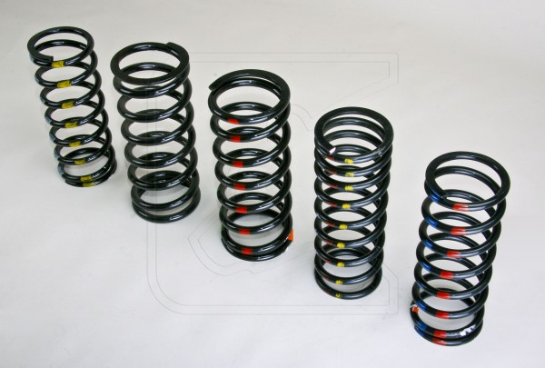 HD Springs for Land Rover Defender 90/110/130, DI/II and RRC front left (blue-red)