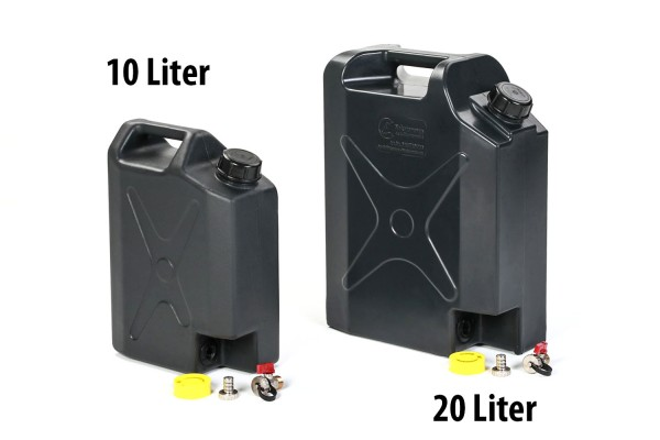 Plastic water can with spout tap 20L or 10L