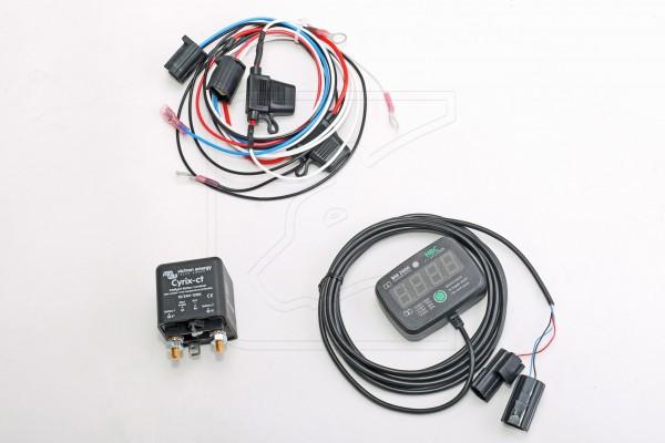 HBC Doppelbatteriemonitor BUNDLE mit Cyrix-ct Trennrelais, für Fahrzeug universell