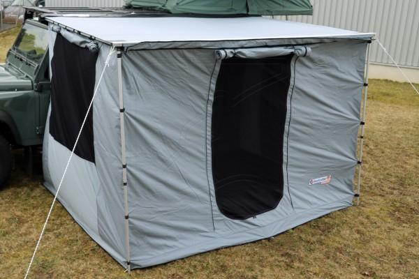 Ground tent evolution awning