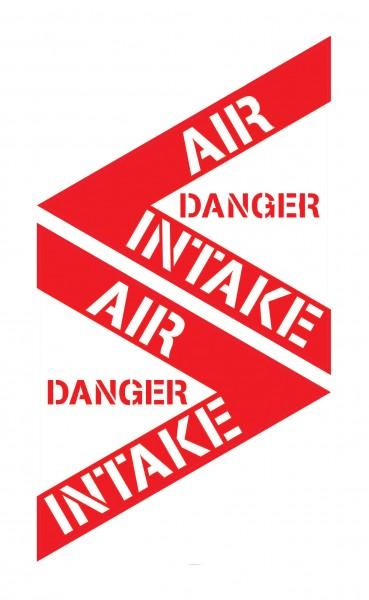 Aufkleber: DANGER AIR INTAKE