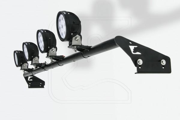 Nakatanenga Lampenbügel für Land Rover Defender, mit 4 LED Arbeitsscheinwerfern rund