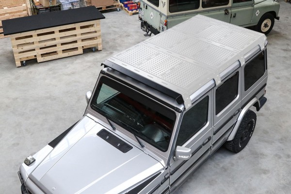 CargoBear wind deflector for Mercedes G roof rack CargoBear