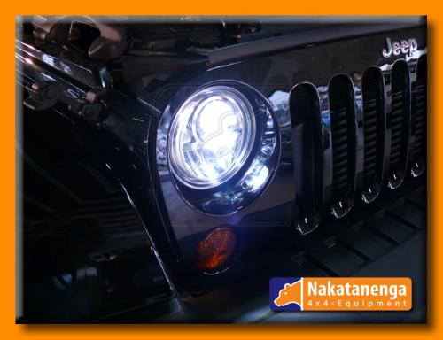 NOLDEN 7-inch Bi-LED Reflector Headlamp for Jeep Wrangler JK