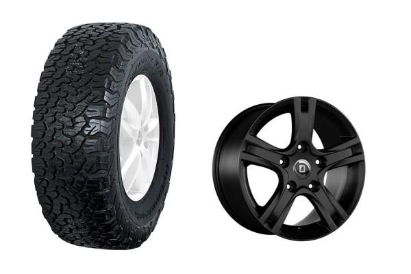 Complete wheel set BF Goodrich All Terrain T / A KO2 on aluminum rim Diewe Amaro for New Defender