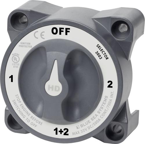BlueSea Heavy Duty Batterieumschalter mit AFD