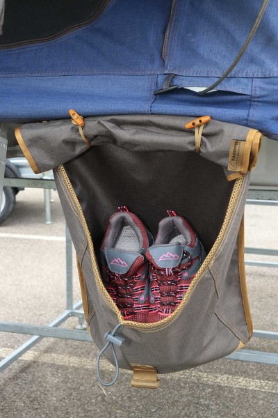 Shoe bag for roof tents