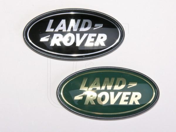 Land Rover Logo Heck, Farbe: schwarz-silber