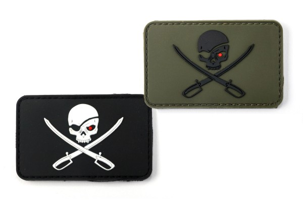 Patch Skull with swords