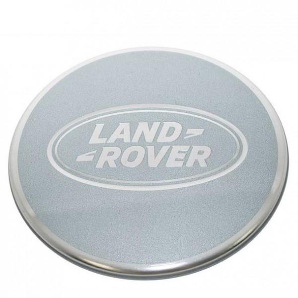 Nabendeckel silber mit Land Rover Logo, Durchmesser 61 mm