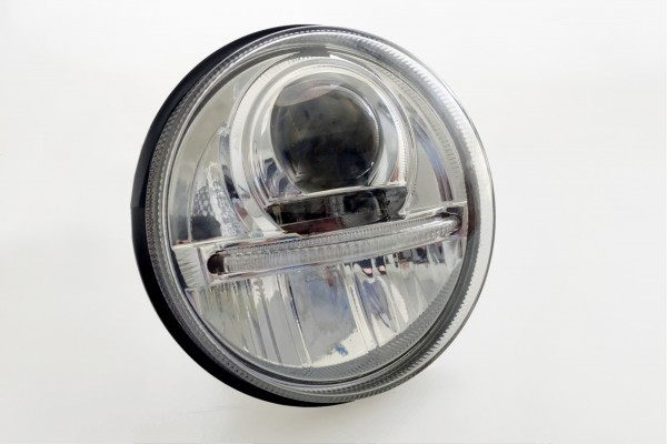 Nolden 5.75-inch LED headlight with daytime running light and position light, LHD