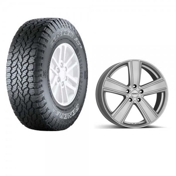 "Complete wheel set General Grabber AT3 255 / 60R19 113V on aluminum rim Dezent TH 8,5x19 ""ET40"