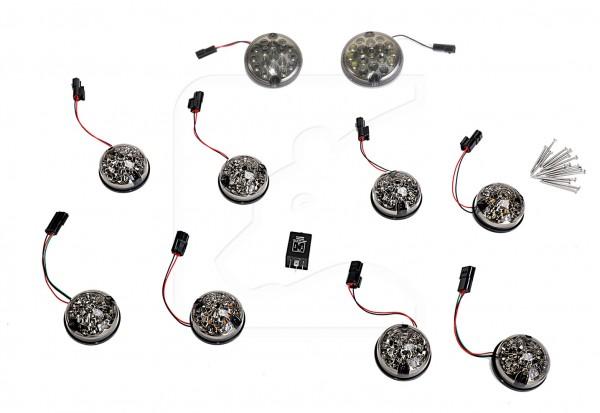 LED Signalleuchten Set in Smoke / Rauchgrau für Defender