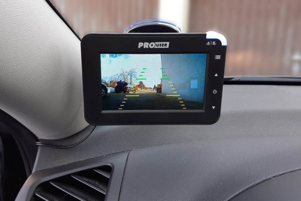 digital solar rear view camera system
