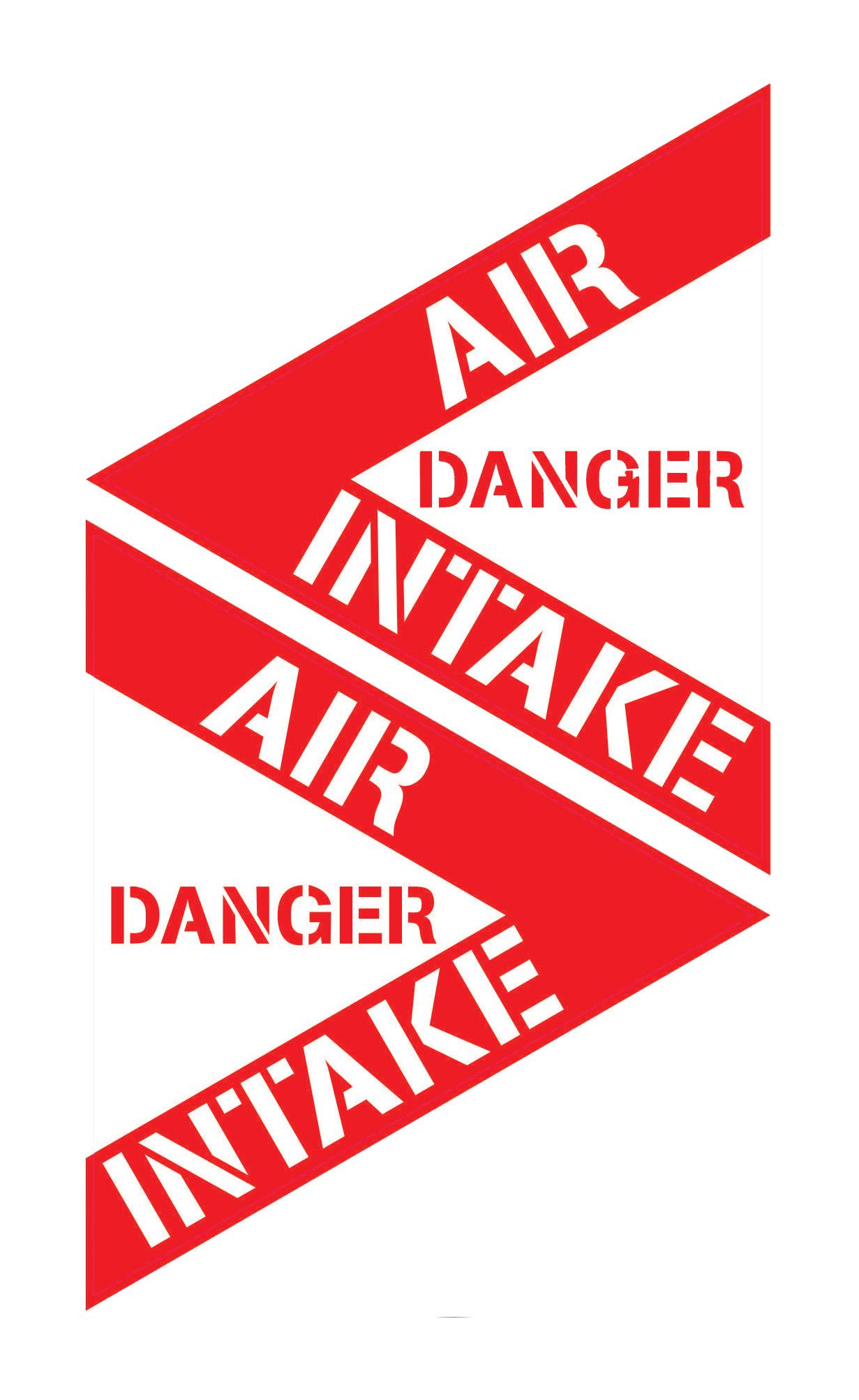 Aufkleber Danger Air Intake Jetzt G 252 Nstig Auf Nakatanenga