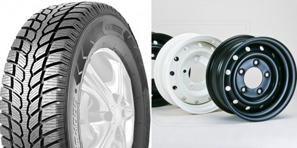 Winter Tire-Set GT-Radial Maxmiler WT 1000 235/85R16 on WOLF steel rims for Landrover Defender