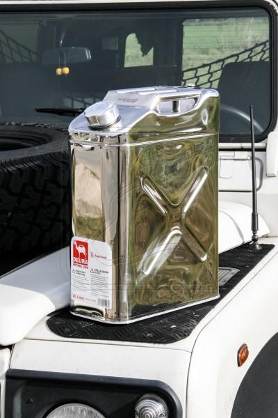 Kanister aus Edelstahl, 20 Liter, poliert