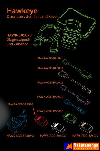 Hawkeye Kabel und Adapter