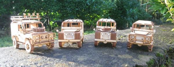 Holzmodell - Land Rover 90 (mit Fenstern)