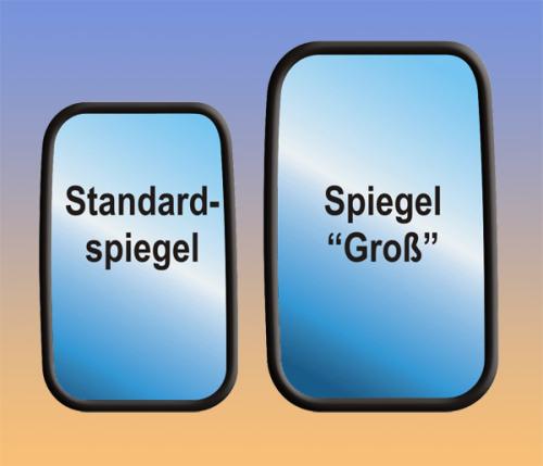 """Spiegelkopf """"Groß"""", ca. 245 x 145 mm, Defender / Serie III"""