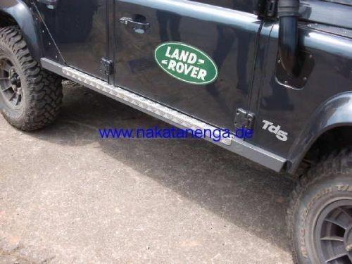 Sidebars / Rocksliders 130, Alu pulverbeschichtet, Land Rover Defender