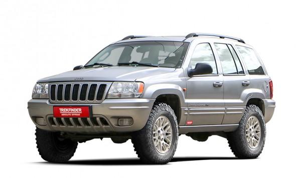 Höherlegungsfahrwerk TREKFINDER für JEEP® Grand Cherokee WJ/WG mit KONI Heavy Track Stoßdämpfer +35