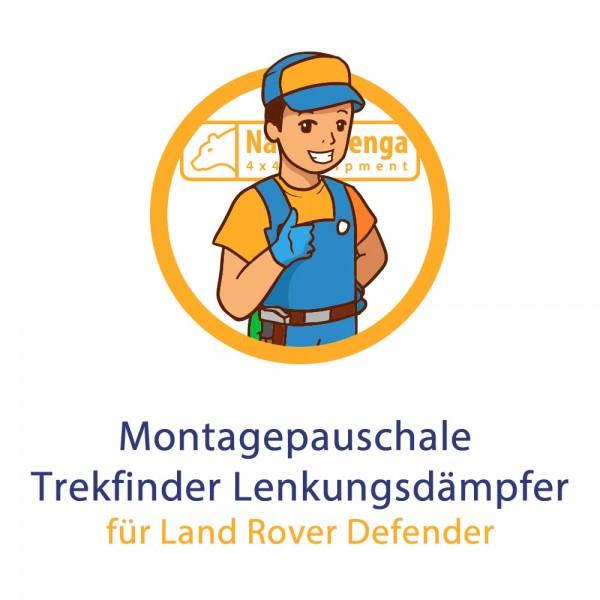 Montagepauschale Trekfinder Lenkungsdämpfer für Land Rover Defender