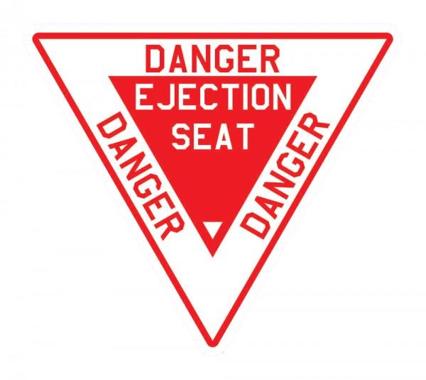 Aufkleber: DANGER EJECTION SEAT