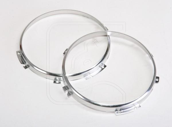 """Bearlight stainless headlight rims for 7"""" Land Rover Defender main lights"""