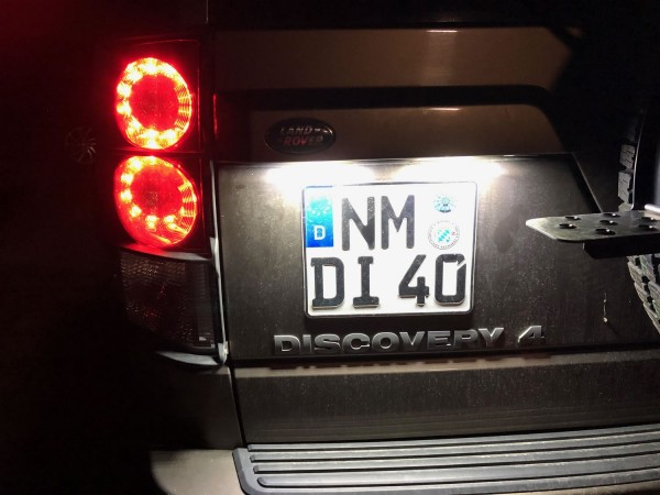 LED license plate light Discovery