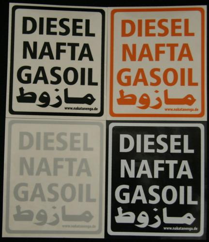 Diesel decal, multi-language