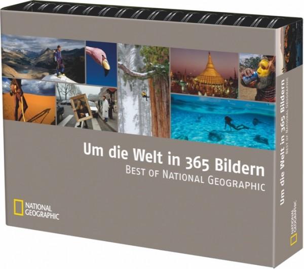 Mehrjahreskalender / Tischaufsteller - Um die Welt in 365 Bildern