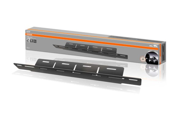 EU license plate holder with driving light mounting option
